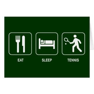 Coma la tarjeta del tenis del sueño