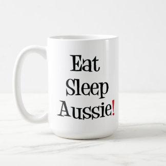 Coma la taza de Aussie del sueño