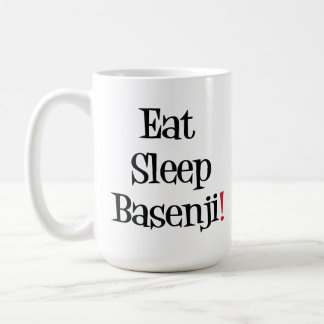 Coma la taza de Basenji del sueño