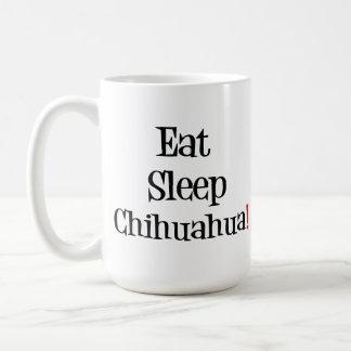 Coma la taza de la chihuahua del sueño