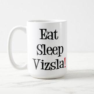 Coma la taza de Vizsla del sueño