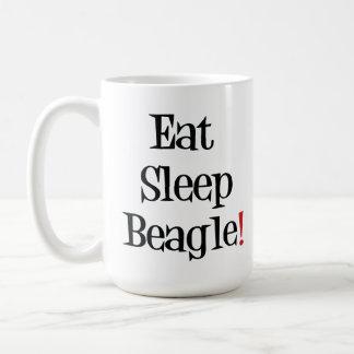 Coma la taza del beagle del sueño
