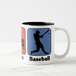Coma la taza del béisbol del sueño