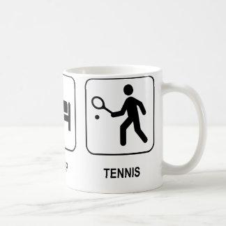 Coma la taza del tenis del sueño