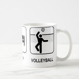 Coma la taza del voleibol del sueño