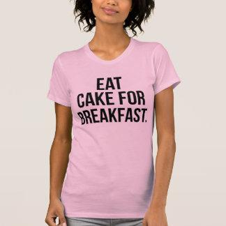 Coma la torta para la camiseta Tumblr del desayuno