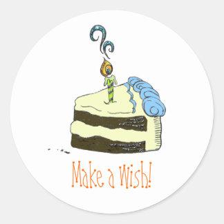 Coma la torta pegatina redonda