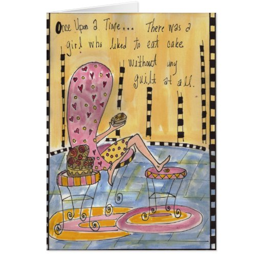 Coma la torta sin la tarjeta de la culpabilidad
