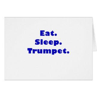 Coma la trompeta del sueño tarjeta de felicitación
