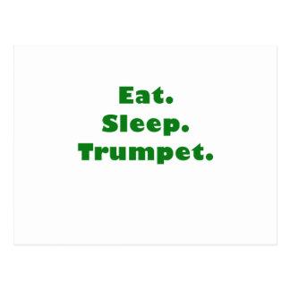 Coma la trompeta del sueño postal