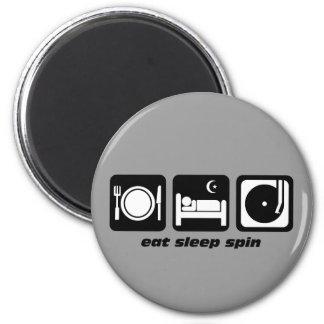 Coma la vuelta del sueño imán redondo 5 cm