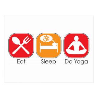 Coma la yoga del sueño tarjetas postales