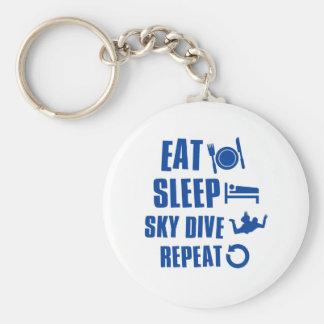 Coma la zambullida de Skye del sueño Llaveros Personalizados