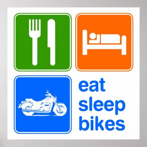 Coma las bicis del sueño póster