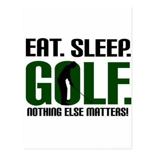Coma las camisetas del golf del sueño y júntelas c postal