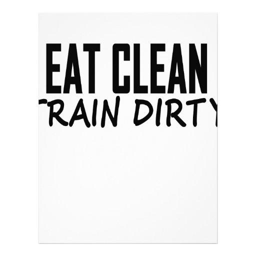 Coma las camisetas sucias .png del tren limpio plantilla de membrete