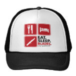 Coma las cuchillas del sueño - rojo gorras de camionero