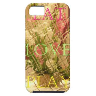 Coma las flores del juego del amor para todo el o iPhone 5 fundas
