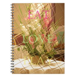 Coma las flores del juego del amor para todo el o libretas