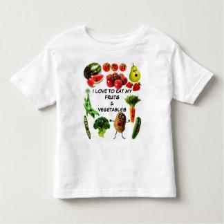 Coma las frutas y verduras camisetas