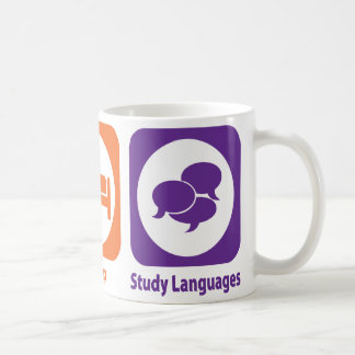 Coma las idiomas del estudio del sueño tazas