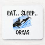 Coma las ORCAS del sueño Alfombrilla De Ratones