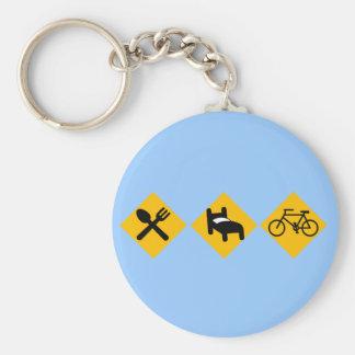 Coma las señales de tráfico de la bicicleta del su llavero