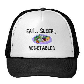 Coma las VERDURAS del sueño Gorros Bordados