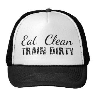 Coma limpio, tren sucio gorras
