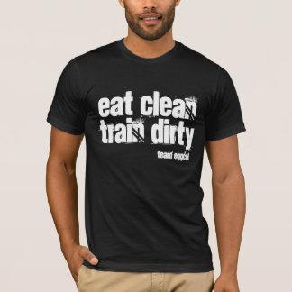 coma limpio y el tren sucio es su lema playera