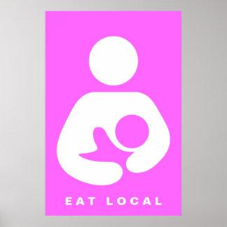 Coma local/el icono del amamantamiento/del oficio  poster