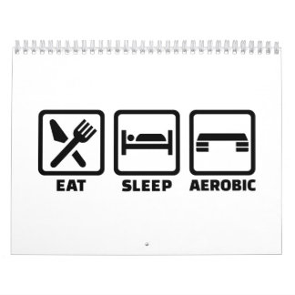 Coma los aeróbicos del sueño calendarios
