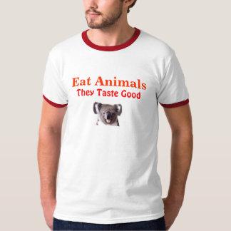 Coma los animales, ellos prueban bueno playera