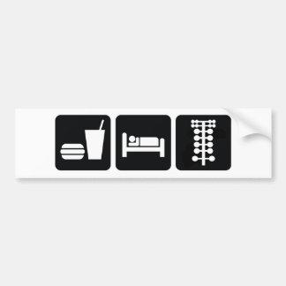 Coma los arrancones del sueño pegatina de parachoque