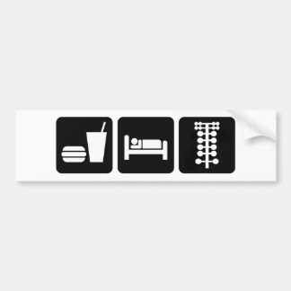 Coma los arrancones del sueño pegatina para auto