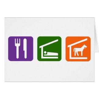 Coma los caballos del sueño tarjeta de felicitación