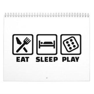 Coma los dados del sueño calendarios