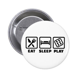 Coma los dados del sueño pin redondo de 2 pulgadas
