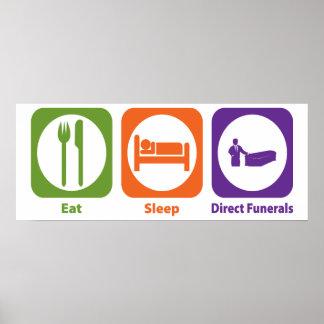 Coma los entierros directos del sueño impresiones