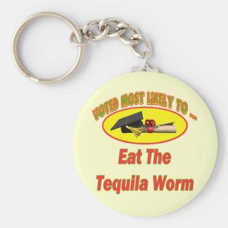 Coma los gusanos del Tequila Llavero Redondo Tipo Pin