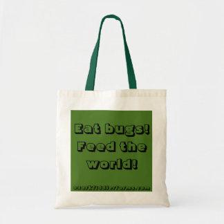 ¡Coma los insectos y alimente el mundo! Bolsa Tela Barata