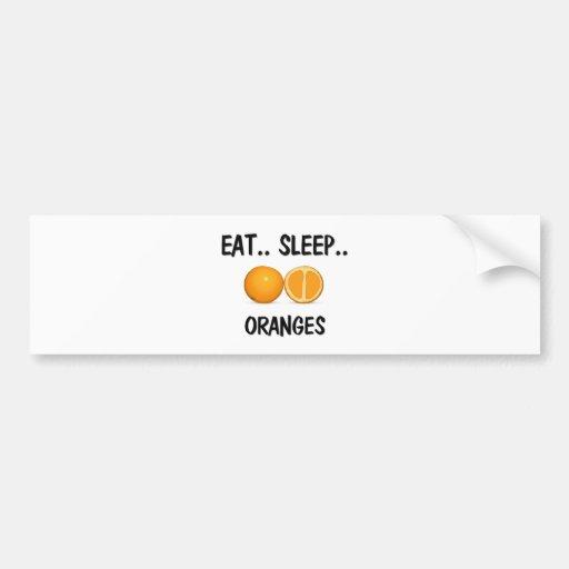 Coma los NARANJAS del sueño Etiqueta De Parachoque