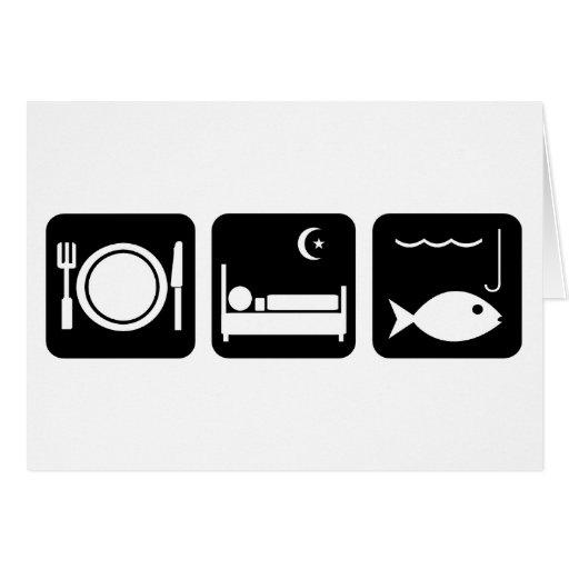 Coma los pescados 1 del sueño tarjetas