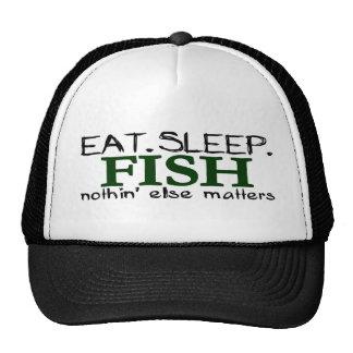 Coma los pescados del sueño gorro de camionero