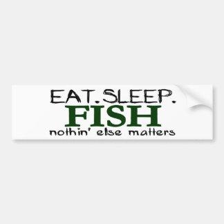 Coma los pescados del sueño pegatina para auto