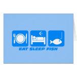 coma los pescados del sueño tarjeta