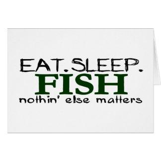 Coma los pescados del sueño tarjeta de felicitación