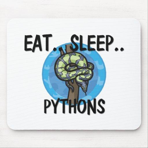 Coma los PITONES del sueño Tapetes De Raton