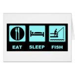 Coma los regalos de la pesca de los pescados del s tarjeta