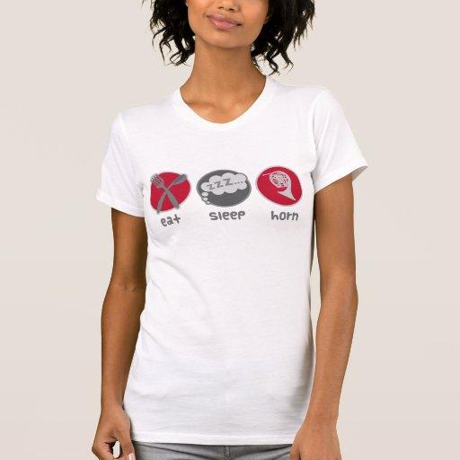 Coma los regalos del cuerno del sueño camisetas